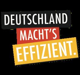 Logo DEUTSCHLAND MACHT'S EFFIZIENT